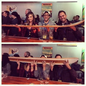 "That contraption is called a ""Shotski"" for obvious reasons."
