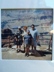 Here we are as a family at the Grand Canyon.