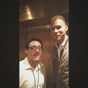 When Blake Griffin asks to take a picture with you at 330am you do it. Or in this case when he doesn't ask you, you still do it. Blake was hosting shows all week and was amazingly funny.