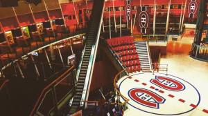 One of the venues I was set vetting at is called The Comedy Nest and it's inside the old forum where the Montreal Canadians used to play. They built a mall inside and kept center ice and some of the seats still in tact.